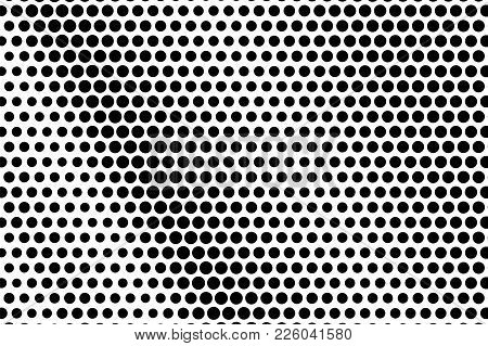 Black And White Dotted Texture. Frequent Halftone Vector Background. Regular Dotted Gradient. Abstra