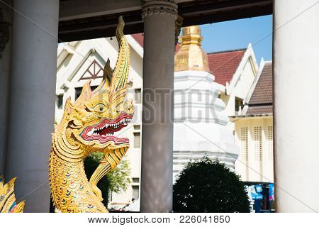 Asian Or Buddhist Elaborate Dragon Symbolising Good Fortune, Power And Wealth