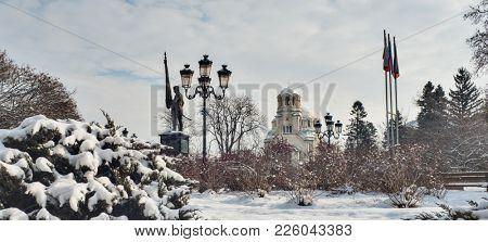 Aleksander Nevski Cathedral Winter Sofia Bulgaria