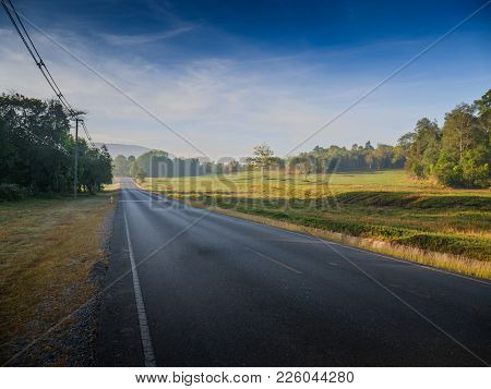 Road To The Top Of Khao Yai National Park, Nakhon Ratchasima, Thailand.