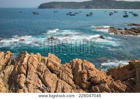 Da Dia Cliff Or Ghenh Da Dia In Central Vietnam