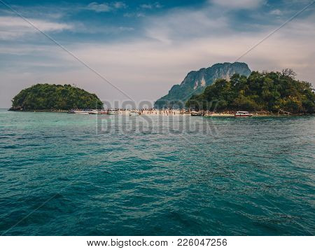 Tup Island Landmark For Tourist Attraction And (unseen Thailand), Beautiful Beach At Krabi Thailand.