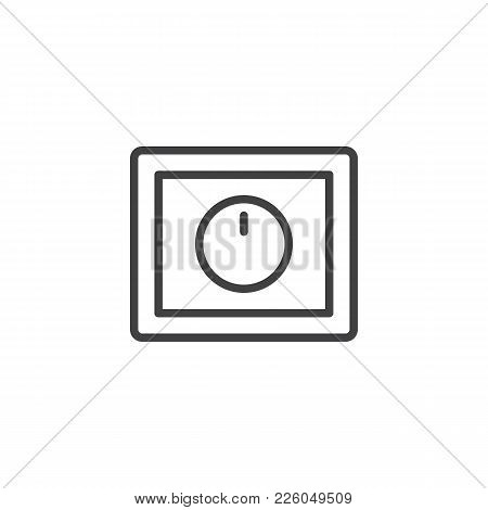 Light Dimmer Switch Line Icon, Outline Vector Sign, Linear Style Pictogram Isolated On White. Symbol