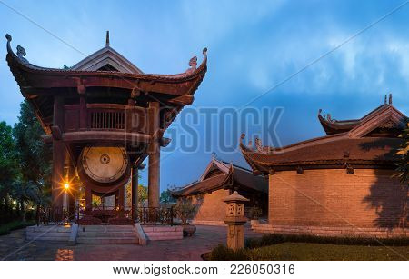 Fifth Courtyard At The Temple Of Literature Or Van Mieu In Hanoi. Constructed In 1070 To Honor Confu