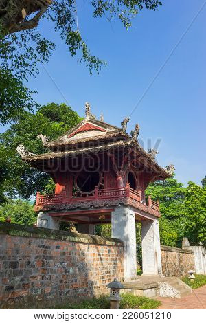 Khue Van Cac Or Stelae Of Doctors In Temple Of Literature Or Van Mieu. The Temple Hosts The Imperial