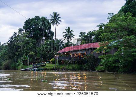 Barefoot Sukau Lodge On The Kinabatangan River, Sabah, Borneo. Malaysia.