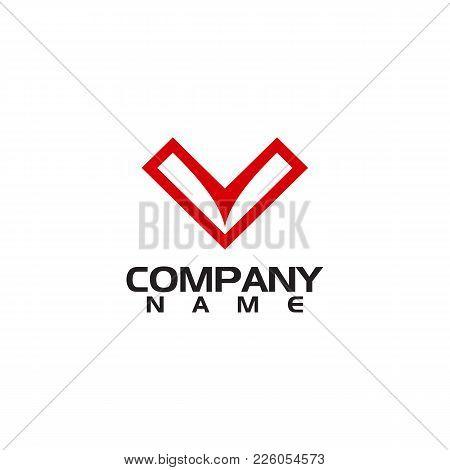 V Letter Logo Design Vector Illustration Template, V Letter Logo Vector, Letter V Logo, Creative Let