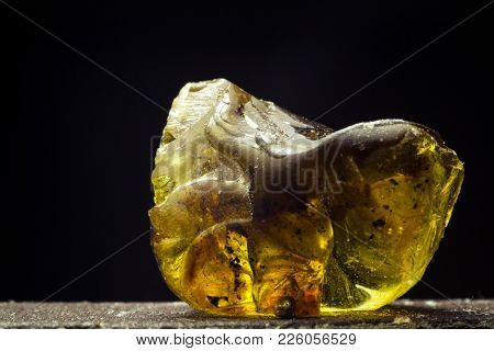 Close-up Of The Crystal Of Rosin By Soviet Lens