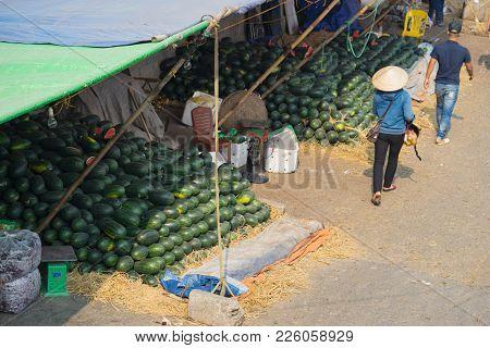 Aerial View Of A Corner Of Long Bien Wholesale Market In Hanoi City, Vietnam