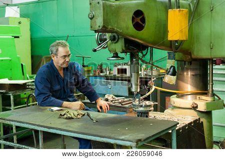 Tyumen, Russia - September 7, 2010: Jsc Tyumenskie Motorostroiteli. Plant On Production And Repair O