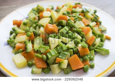 Chopped Vegetables To Prepare A Steamed Minestrone