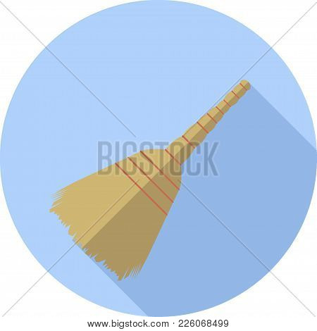 Vector Image Of A Broom In A Circle