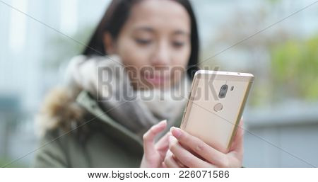 Use of mobile phone in the park