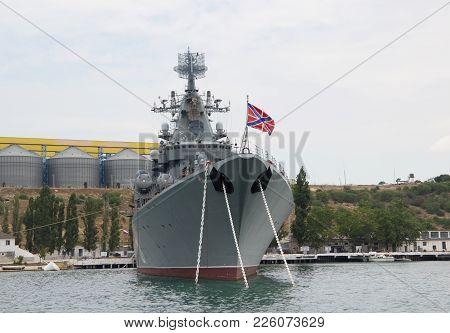 Russia,sevastopol - June 13, 2014: Russian Guided Missile Cruiser