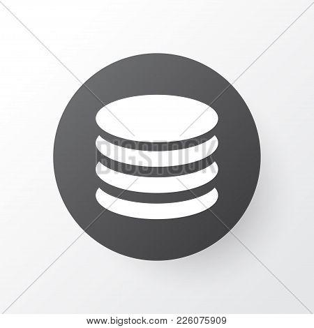 Database Icon Symbol. Premium Quality Isolated Db Element In Trendy Style.