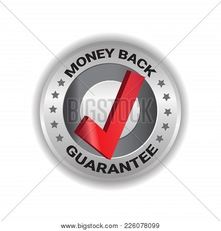 Money Back Tag Sign Guarantee Badge Template Label Isolated Vector Illustration