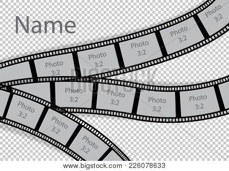 Film Strip Photo Frame Effect Template Collage. Vector Illustration.