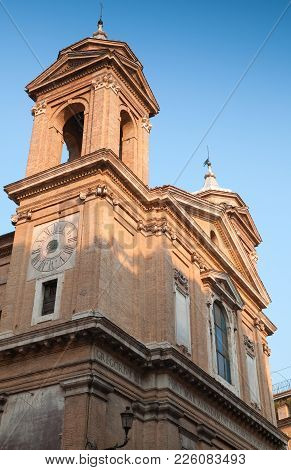 Facade Fragment Of Church Of The Santissima Trinita Dei Monti, Often Called Merely The Trinita Dei M