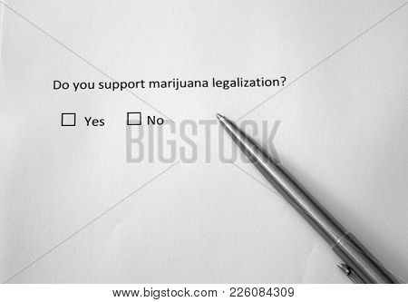 Do You Support Marijuana Legalization? Yes Or No. Controversial Question About Cannabis Use.
