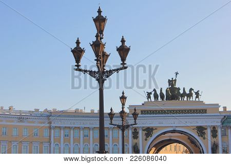St. Petersburg City Architecture Wallpaper. General Staff Building Arch And Historical Decorative St