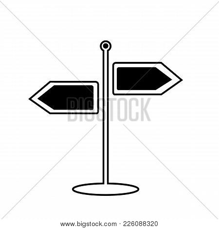 Signpost Icon. Vector Illustration Isolated On A Background