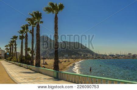 Gibraltar, La Linea De La Concepcion And The Poniente Beach