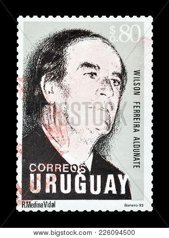 Uruguay - Circa 1993 : Cancelled Postage Stamp Printed By Uruguay, That Shows Portrait Of Wilson Fer
