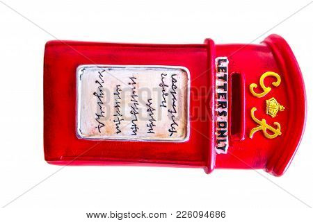 Small Postbox Model For Show On White Background