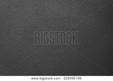 B&w Leather Texture Closeup Use For Background