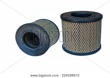 Air Filter On The White Background, Car, Oil, White, Background