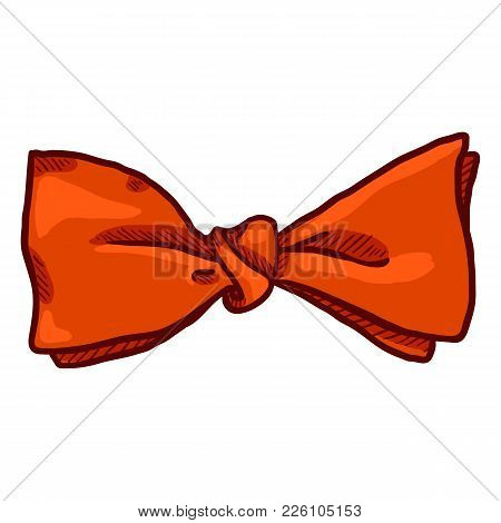 Vector Single Cartoon Bow Tie. Vintage Fashion Accessory