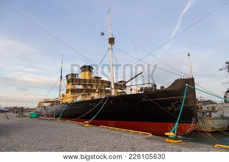 The Icebreaker Suur Toll In Seaplane Harbor.