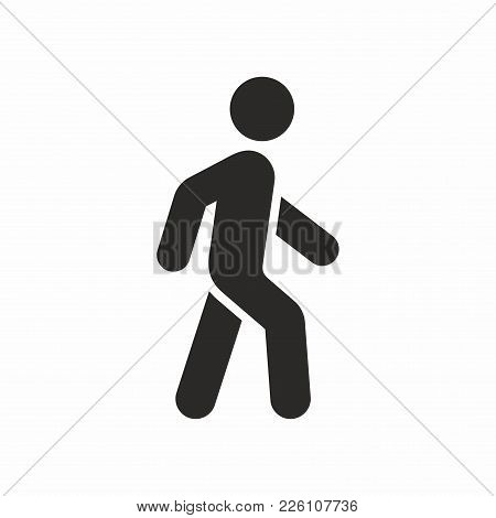 Walk. Vector Icon Isolated On White Background.