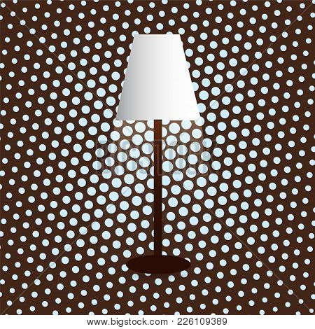 Floor Lamp, Lampshade, Diffused Light, Dot Background