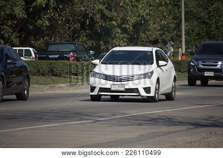 Chiang Mai, Thailand -january 9 2018: Private Car, Toyota Corolla Altis. Eleventh Generation. On Roa