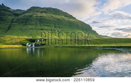 Quiet And Peaceful Image Of Dynjandi Waterfall In Grundarfj R Ur, Iceland