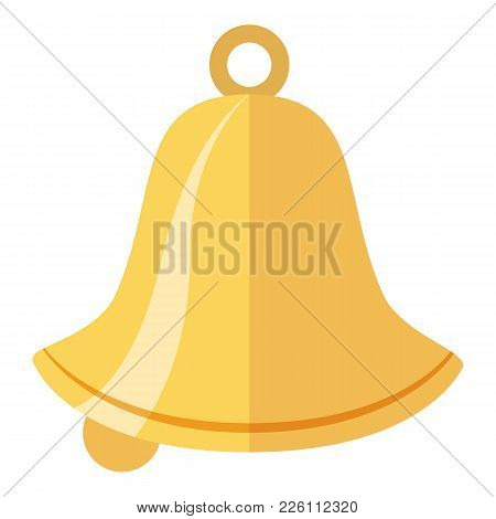 Bell Icon. Flat Illustration Of Bell Vector Icon For Web