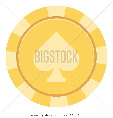 Casino Chips Icon. Flat Illustration Of Casino Chips Vector Icon For Web