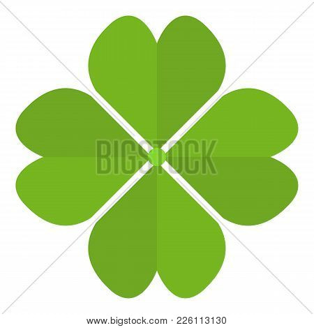 Four Leaf Clover Icon. Flat Illustration Of Four Leaf Clover Vector Icon For Web