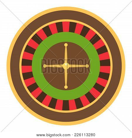 Roulette Icon. Flat Illustration Of Roulette Vector Icon For Web