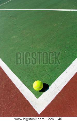 Tennis Balls On Court