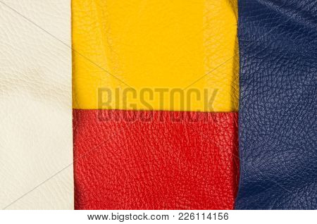 Colored Flaps, Pieces, And Scraps Of Natural Leather For The Manufactured Furniture, Bags And Clothe