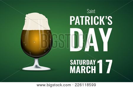 St. Patrick's Day Background With Beer Mug