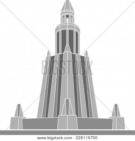 Stencil Of Alexandria Lighthouse. First Variant. Vector Illustration