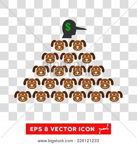 Puppycoin Pyramid Scammer Eps Vector Icon. Illustration Style Is Flat Iconic Symbol On Chess Transpa