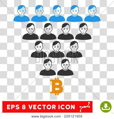 Bitcoin Ponzi Pyramid Eps Vector Pictogram. Illustration Style Is Flat Iconic Symbol On Chess Transp