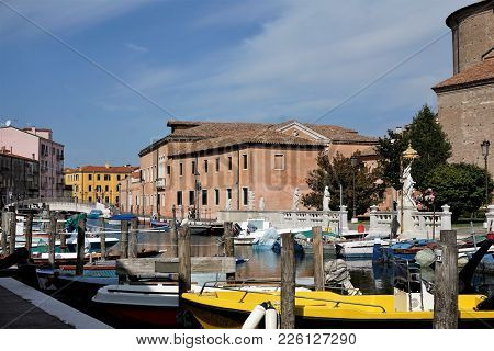 Small Harbour In The City Of Chioggia, Italy