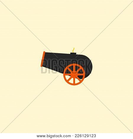 Cannon Icon Flat Element. Vector Illustration Of Cannon Icon Flat Isolated On Clean Background For Y