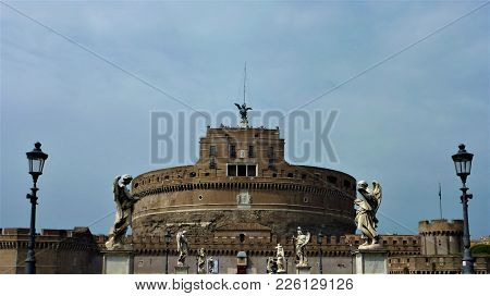 Castel And Ponte Sant Angelo In Rome, Italy