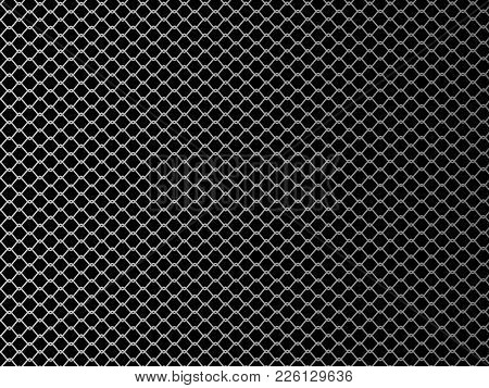 Wire Mesh. Mixed Single Combats Of Mma. Vector Illustration On Black Background.